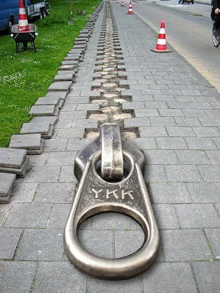 zipper street art