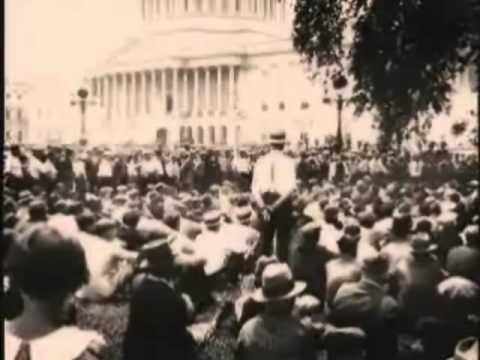 Bonus Army: US military attacks demonstrating American War Veterans - YouTube The treatment of our nation's veterans should be everyone's 1st priority this election.  We have allowed this to repeat itself for too long!