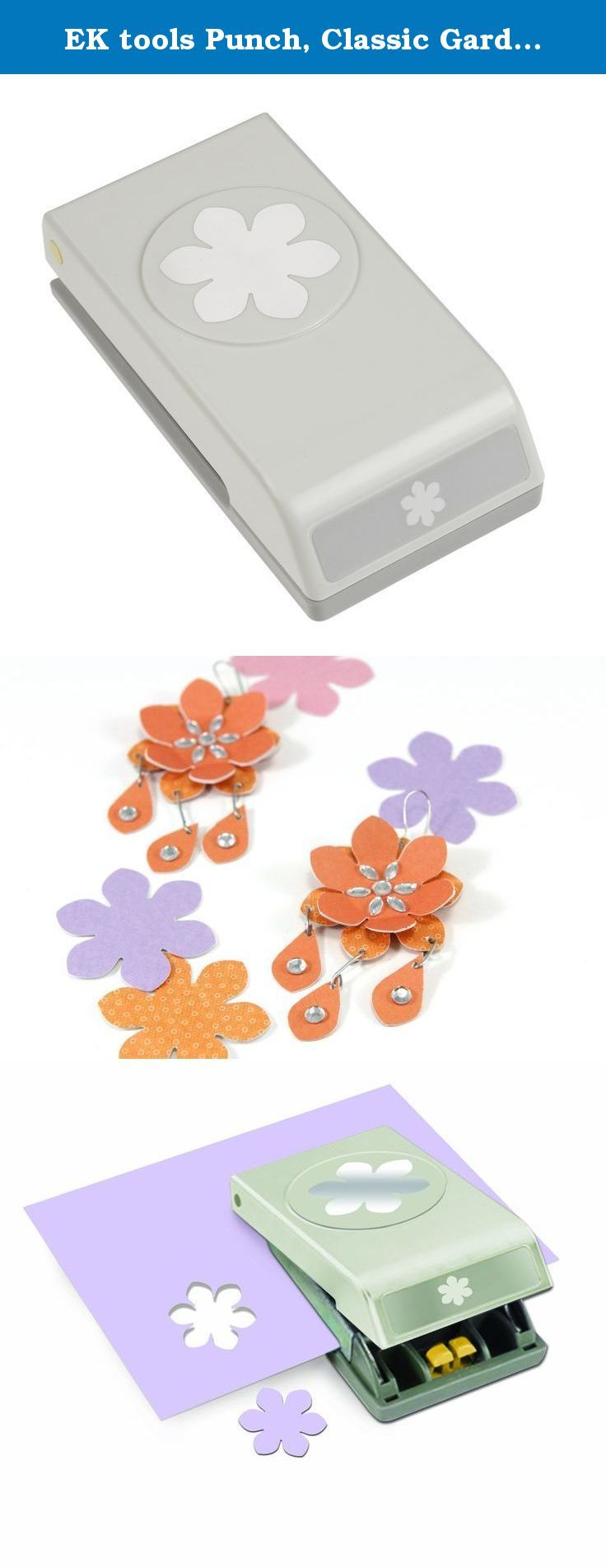 EK tools Punch, Classic Gardenia. Add a fun embellishment to your handmade cards, decorations or gift tags with the ek tools Classic Gardenia Punch. Punch locks shut for stackable storage. Punched shape approx. x.