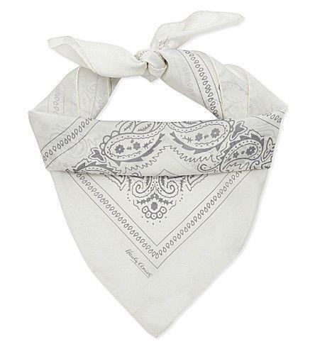 HARDY AMIES Paisley Silk Scarf. #hardyamies #scarves