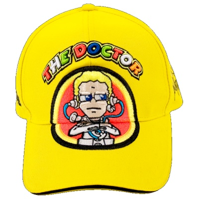 Official 2011 Valentino Rossi  VR46 Merchandise    Yellow 'The Doctor' signature Cap    Brand New with Tags complete with back strap adjsuter    A must have for all Rossi fans