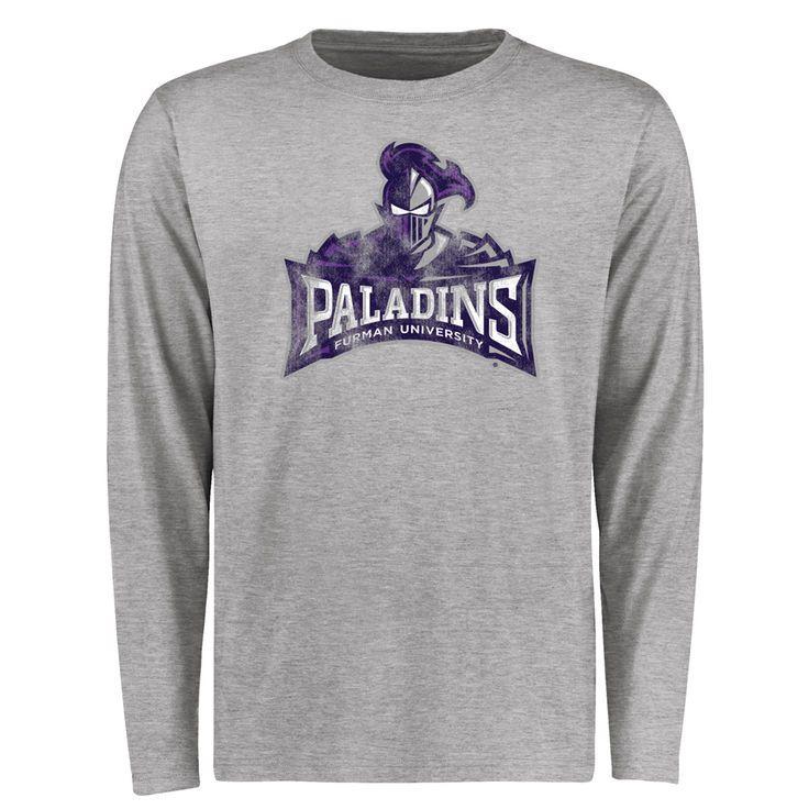 Furman Paladins Big & Tall Classic Primary Long Sleeve T-Shirt - Ash - $29.99