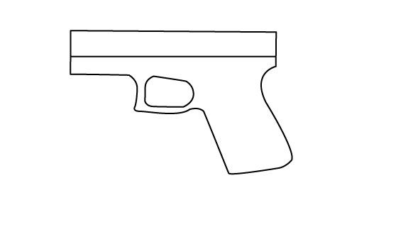 how to draw detailed guns