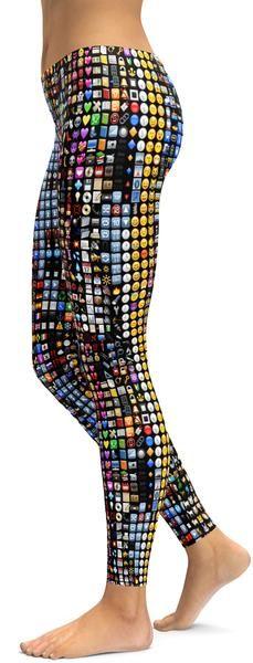 Emoji Leggings - GearBunch Leggings / Yoga Pants