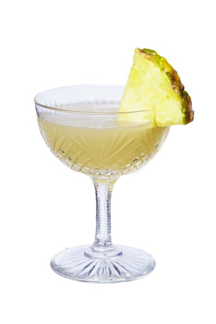 to make a grounds for divorce use pineapple (fresh), patron reposado tequila, licor 43, freshly squeezed lime juice and garnish with pineapple wedge. muddle pineapple
