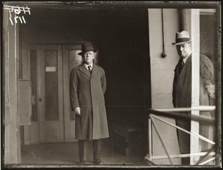 Old vintage police record crime photos black and white Sydney . Gangster Big Jim Devine. 1930s