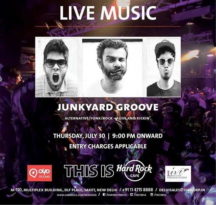 Live Performance by Junkyard Groove....................http://allindiashopingmalls.blogspot.in/2015/07/wow-junkyard-groove-perorm-at-dlf.html