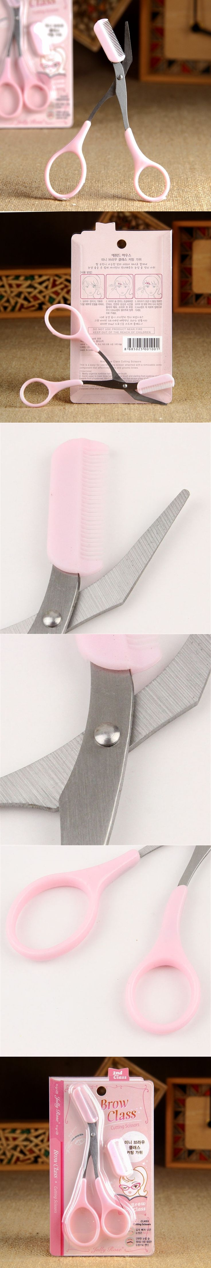 Eyebrow Trimmer Scissors With Comb Remover Makeup Tools Hair Removal Grooming Shaping Shaver Trimmer Eyelash Hair Clips