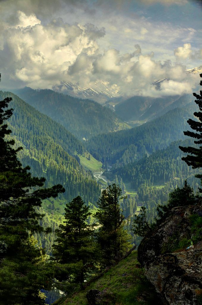 Pir Panjal Peaks View from Gulmarg Viewpoint, Kashmir by Sukhbir Raina