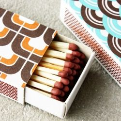 Style your matchboxes with old wallpaper, www.mjse.com