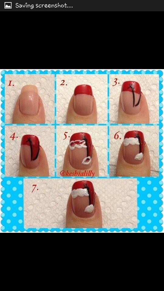 How To: Christmas Santa Hat Nails - Best 25+ Santa Hat Nails Ideas On Pinterest Santa Nails, Xmas