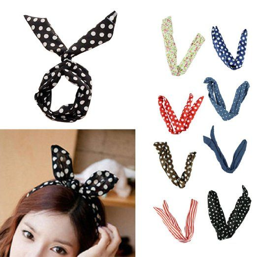 Voberry® Pretty Cute 8pcs /lot Different Colors Rabbit Bunny Ear Girl Hair Head…  – Winter Clothing