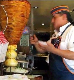 Tacos al pastor  (marinated pork meat)