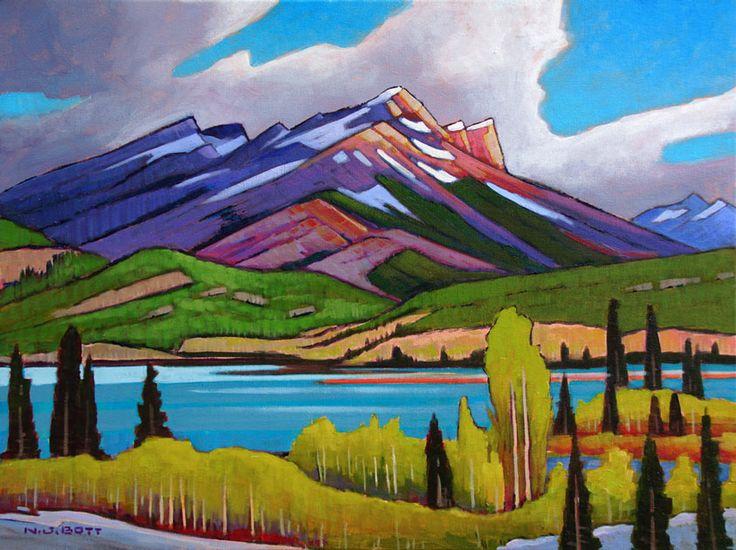 Sunshine on Phillipps Mountain, by Nicholas Bott