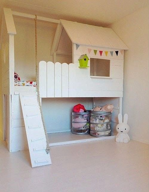 Lit enfant kura cabane 4 kids pinterest kids rooms for Ikea hack plateforme lit