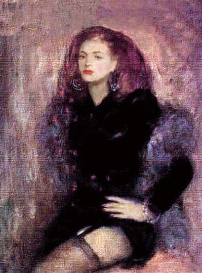 Retrato de mujer por el modernista chileno Mori.