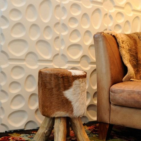 View our 3D Wall panel designs in our gallery of customer installations. Get wall design ideas and inspirations for your accent wall project. Our3D wall tiles give an extra dimension to your walls and compliment just about any room in the house. 3D wall panels can be installed for residential and commercial use.