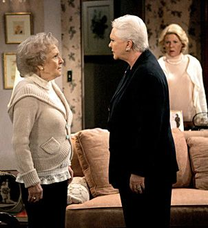 Betty White, Susan Flannery, Alley Mills - 12/2006                                      Cliff Lipson/CBS