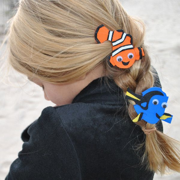 Finding Nemo and Dory Hair Bow