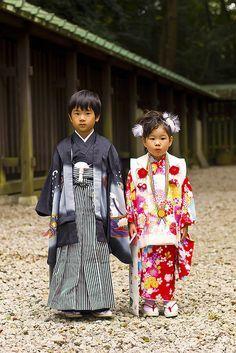 Kimono Kids at Japanese Wedding Festival - 七五三