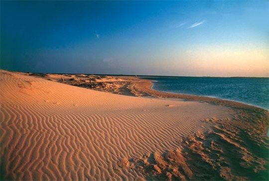 Guajira Peninsula in northern Colombia and northwestern Venezuela by the Caribbean Sea