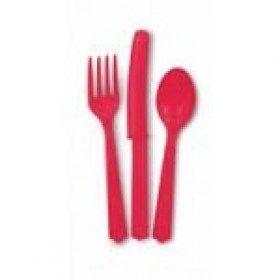 Assorted Ruby Red Cutlery