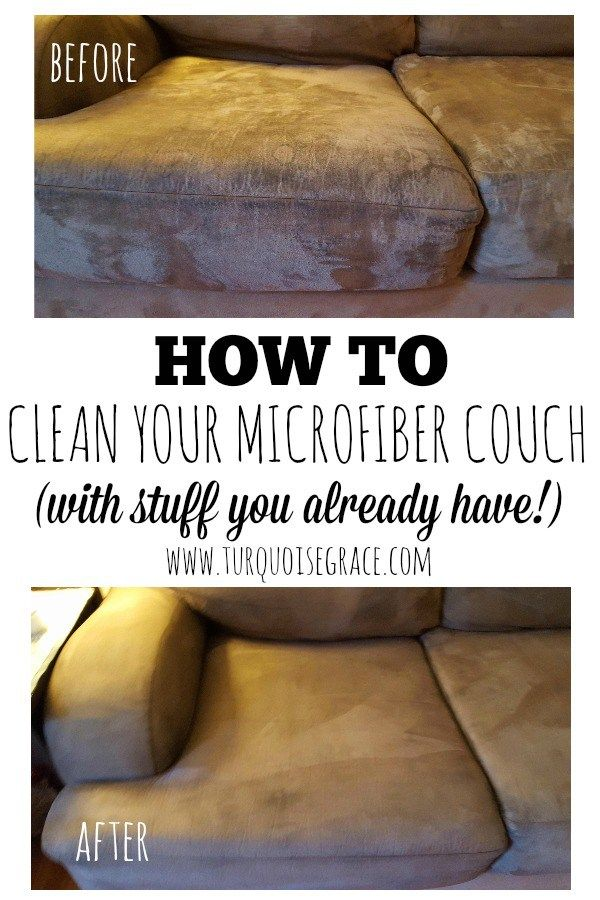 How to Clean Your Microfiber Couch - A super simple way to clean your pesky microfiber couch, with stuff you already have at home!