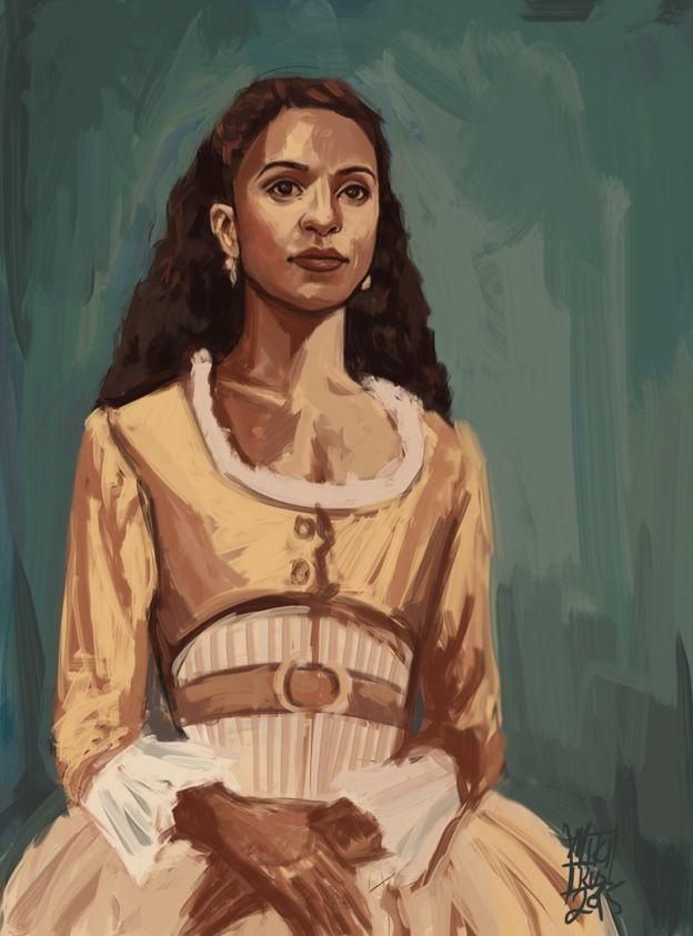 Miki Price- Angelica Schuyler looks amazing