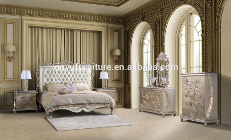 French hotel apatment bedroom furniture ,neo-classical bedroom furniture XYN483 #cream, #bedroom