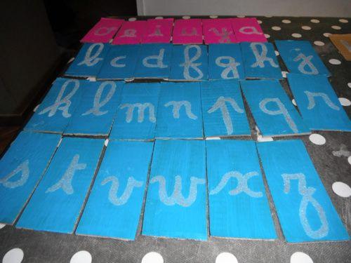 Lettres cursives rugueuses... en sucre!
