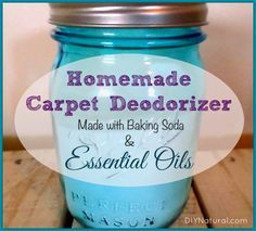 Ovvio Oils:  Homemade Carpet Cleaner Deodorizer with made with baking soda and Lavender essential oil