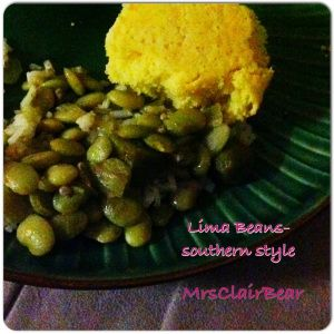 Great recipe for Lima Beans, I'll reveal the secret ingredient on how ...