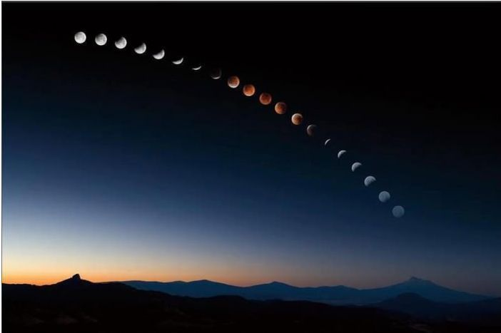 The moons phases. One day I would love to be able to be in the right place and able to capture this myself.