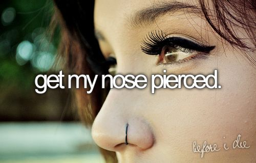goal#4Bucketlist, Nose Piercing, Buckets Lists, Nose Rings, 16Th Birthday, Body Modifications, Things, Bucket Lists, Diamonds Studs