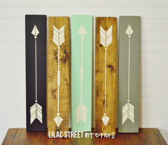 Rustic Wood Arrows, Wood Sign, Aztec, Tribal, Trendy, Modern, Home Decor, Wood Sign, Wood Arrow, Southern, Country, Decor