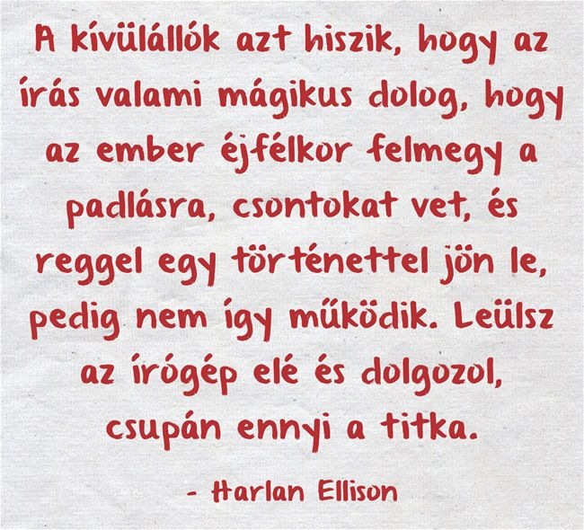 Harlan Ellison-idezet