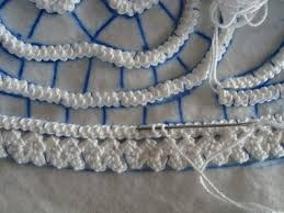 Romanian point lace - You can see how this technique is created in the same way as Irish Crochet, though often on a larger scale