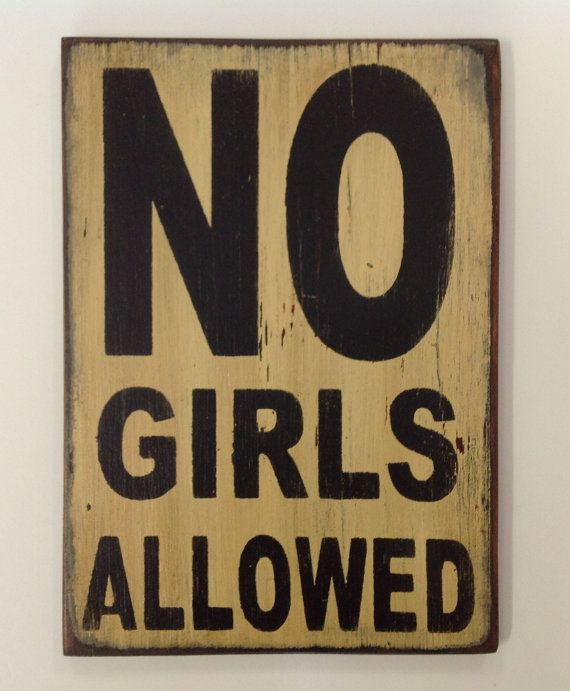 No girls allowed kids room sign made from by for Kids room signs