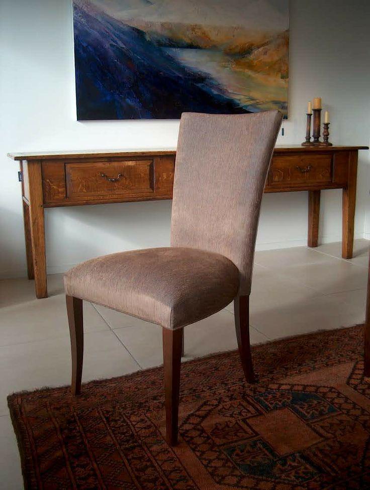 Claudia Chair - In 'Biba-Dusk'  -  Chair Fabric And Leg Stain of Choice