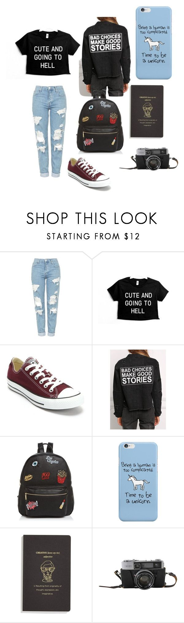 """Photo"" by butterfly-18 on Polyvore featuring Topshop, Converse and Ollie & B"