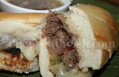 Spicy Crockpot Italian Beef for Sandwiches