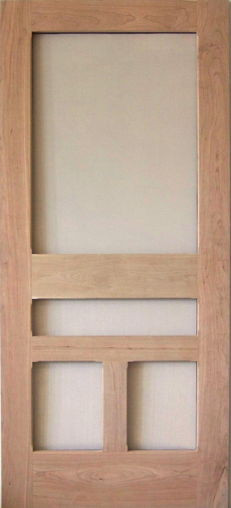 Traditional screen storm door fineview model www for Entry door with screen