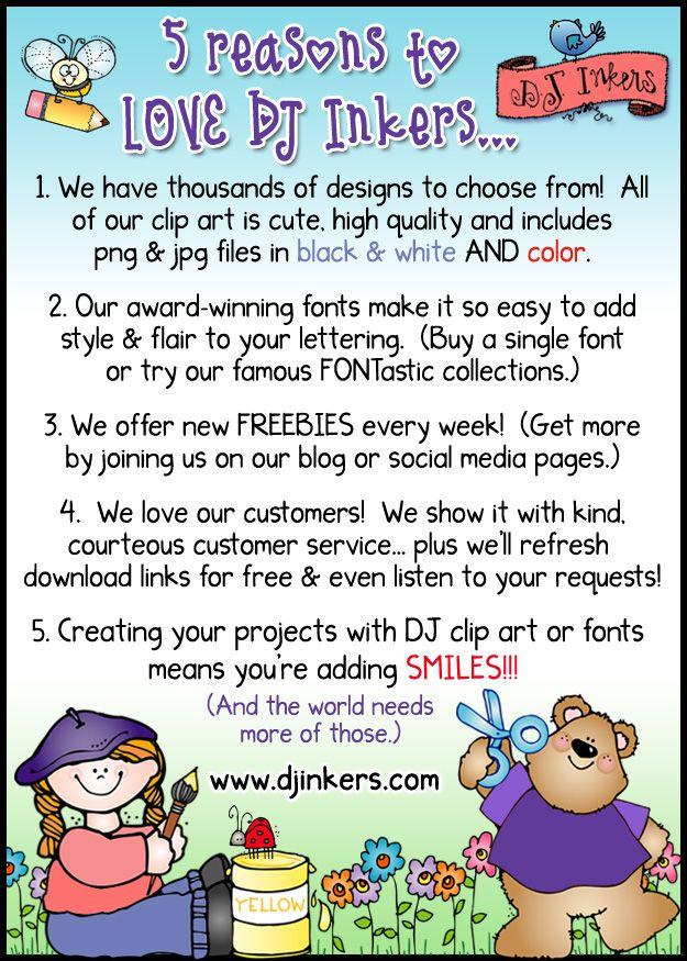 dj inkers clip art fonts teacher ideas printables and - 625×875