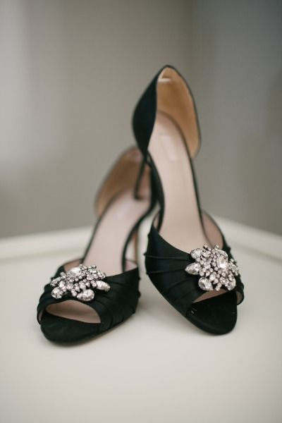 Classic black bridal shoes by Glint Radiance via Nordstrom's | Photography: A Sunshine Moment