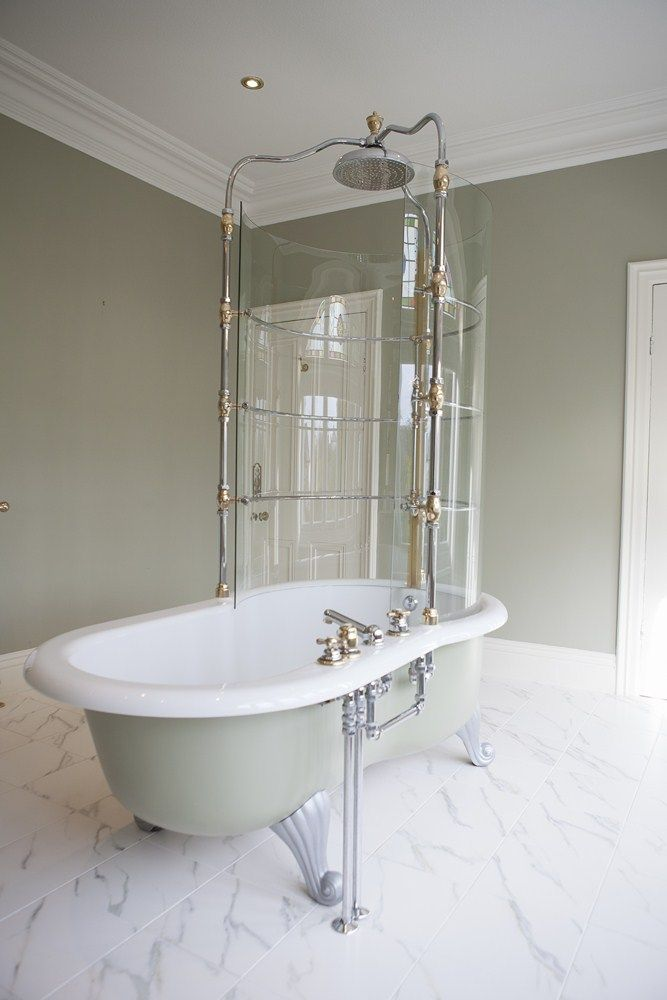 Now there's making a statement and then there's this! Absolutely beautiful traditional shower. www.waringsathome.co.uk