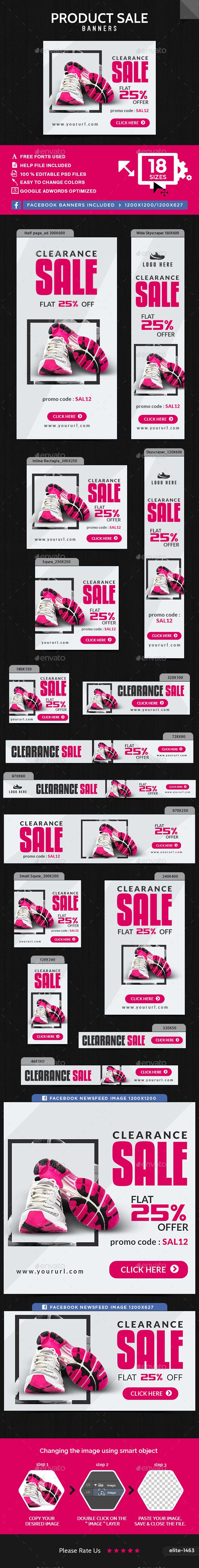 Product Sale Web Banners Template PSD. Download here…