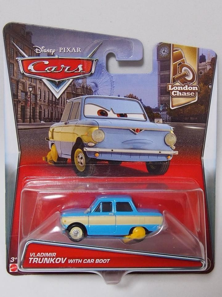 Disney Cars 2 Vladimir Trunkov With Car Boot New In Package Retired Vhtf Toys Hobbies Tv Movie Character Toys Disney E Disney Cars Car Boot Car