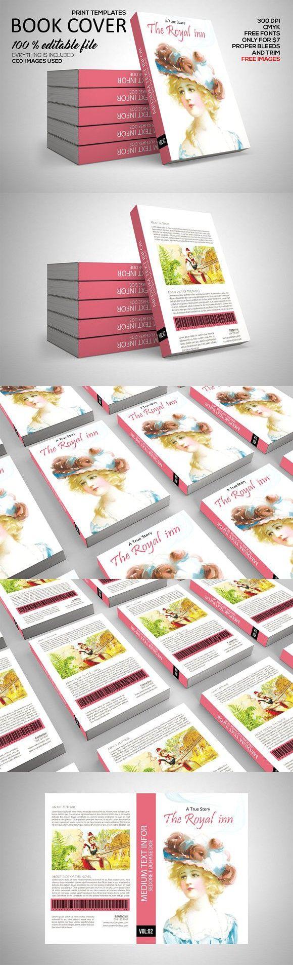 Book Cover Print Template. Gift Voucher Design Templates. $7.00