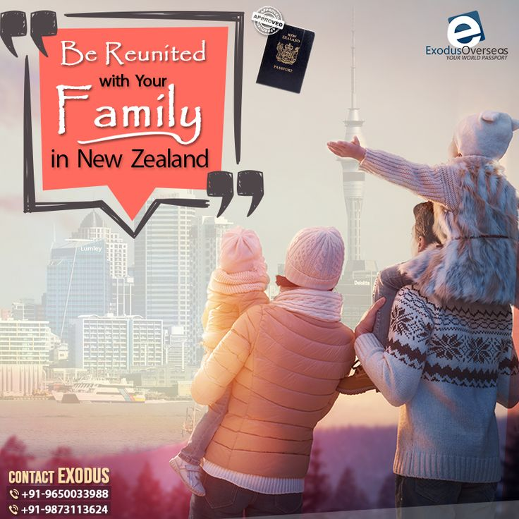 Why stay far from your family when you can be all together in New Zealand? Choose Exodus Overseas for trouble free Visa Application and be reunited with your dear ones. Contact Mr. Pankaj Malhotra (Ex-Visa Officer) Ph: +91-9650033988. For any visa other than Student contact Ms. Rajni Garg (Licensed immigration advisor) at +91-9873113624. #ExodusOverseas #visaapplication #licensed #immigration #advisor #expert #consultant #newzealand