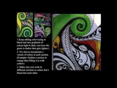 Koru Spiral Plants Art Lesson - Creative Artroom